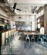 Kursi Bar Industrial Klasik