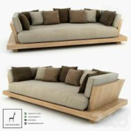 Sofa Santai Bed Kayu Minimalis
