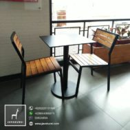 Meja Kursi Cafe Jati Industrial