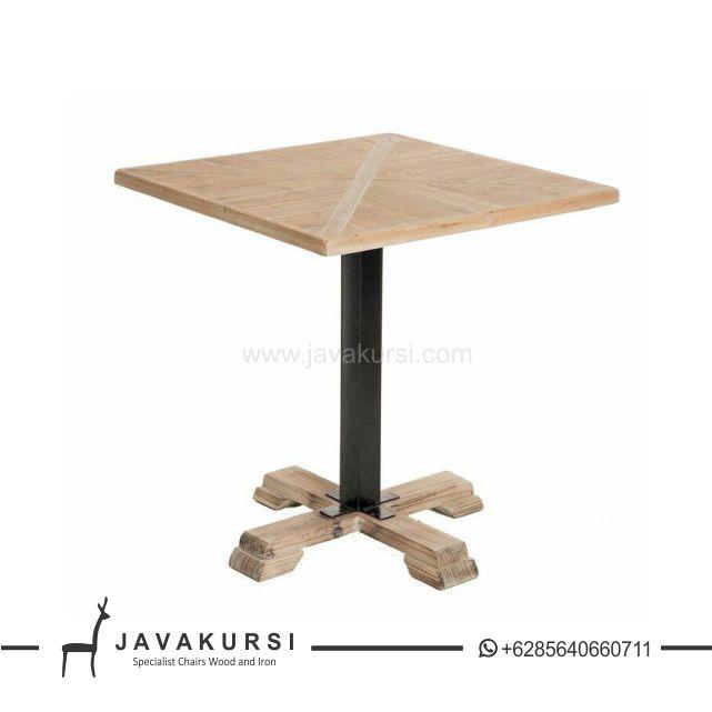 Meja Makan Cafe Kayu Solid Besi Jual Furniture Cafe Di Jakarta Murah